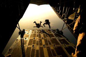 soldat, militaire parachutiste